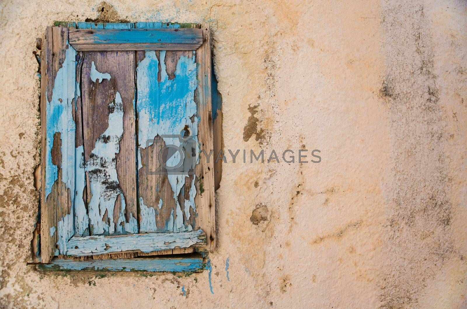 Vintage texture. Colorful exterior detail of old house