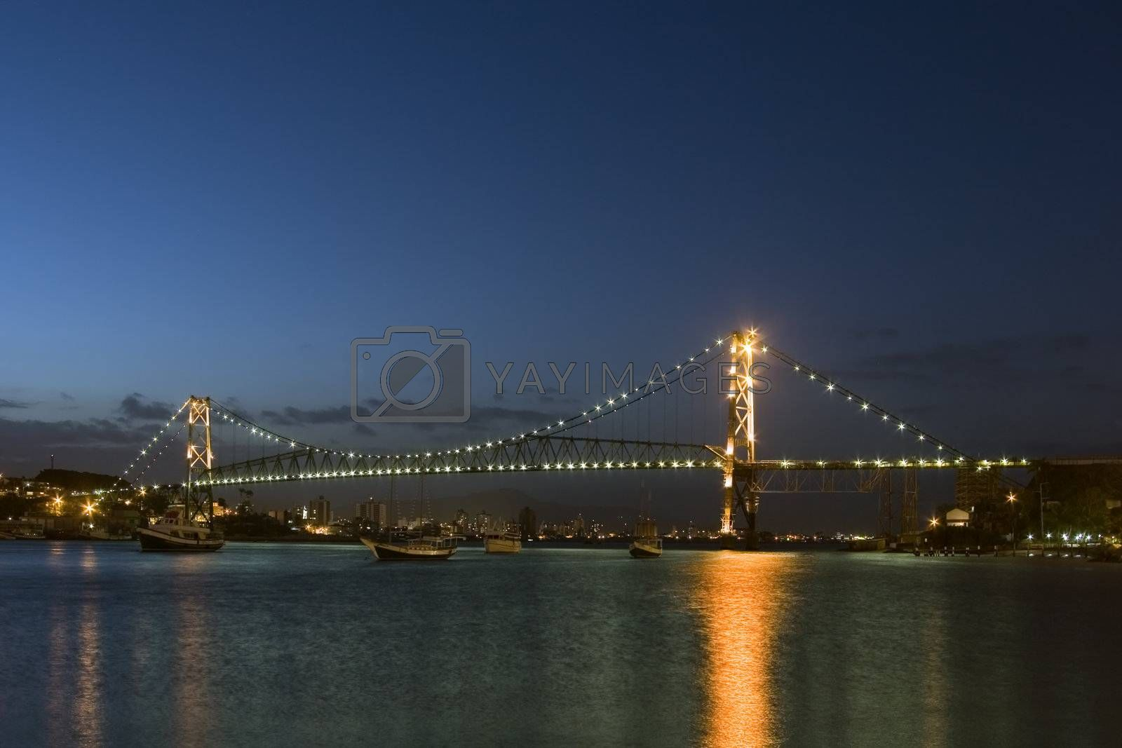 "The bridge ""Ponte Hercilio Luz"" in Florianopolis - Santa Catarina - Brazil"