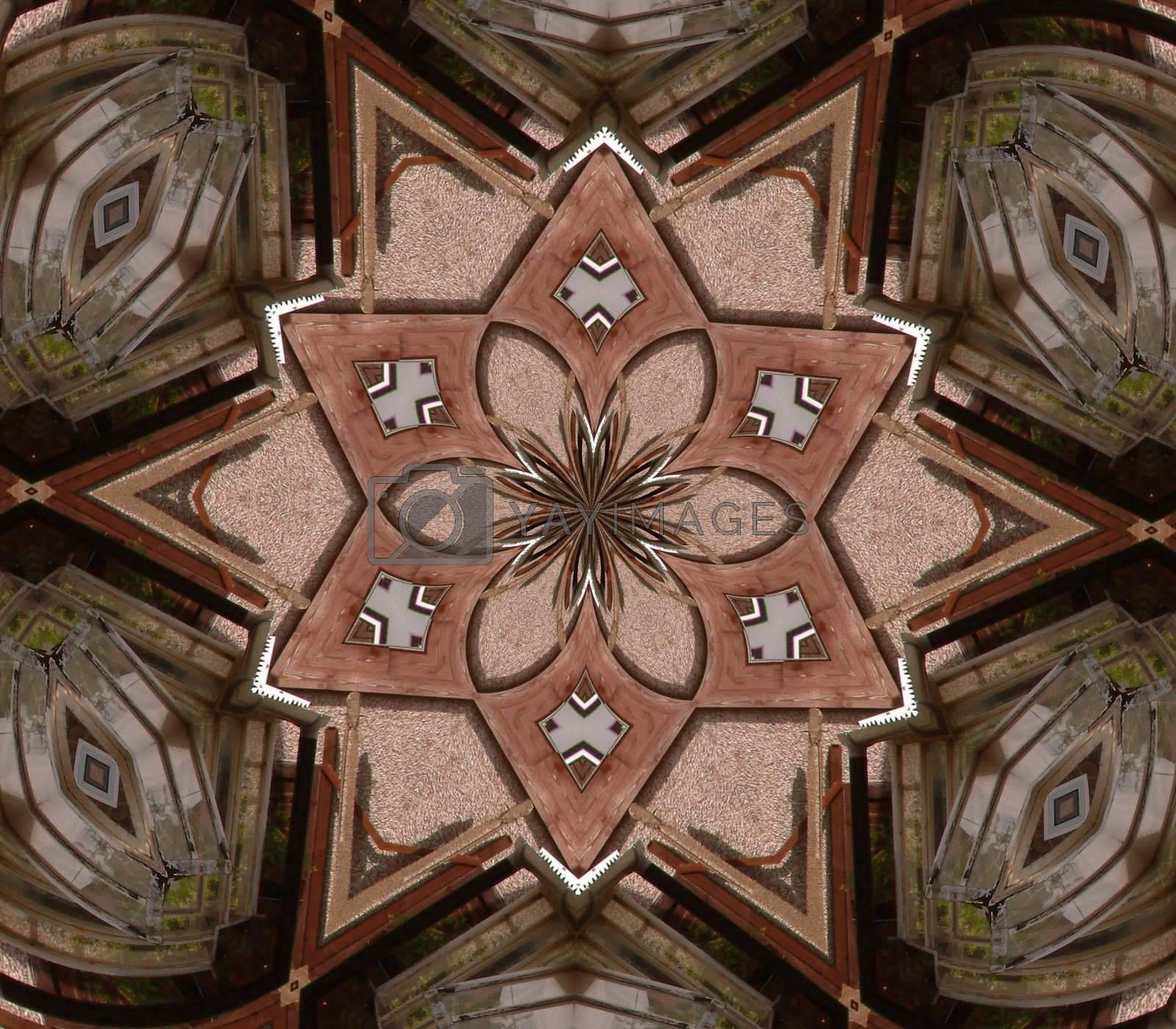 brown and beige star pattern background