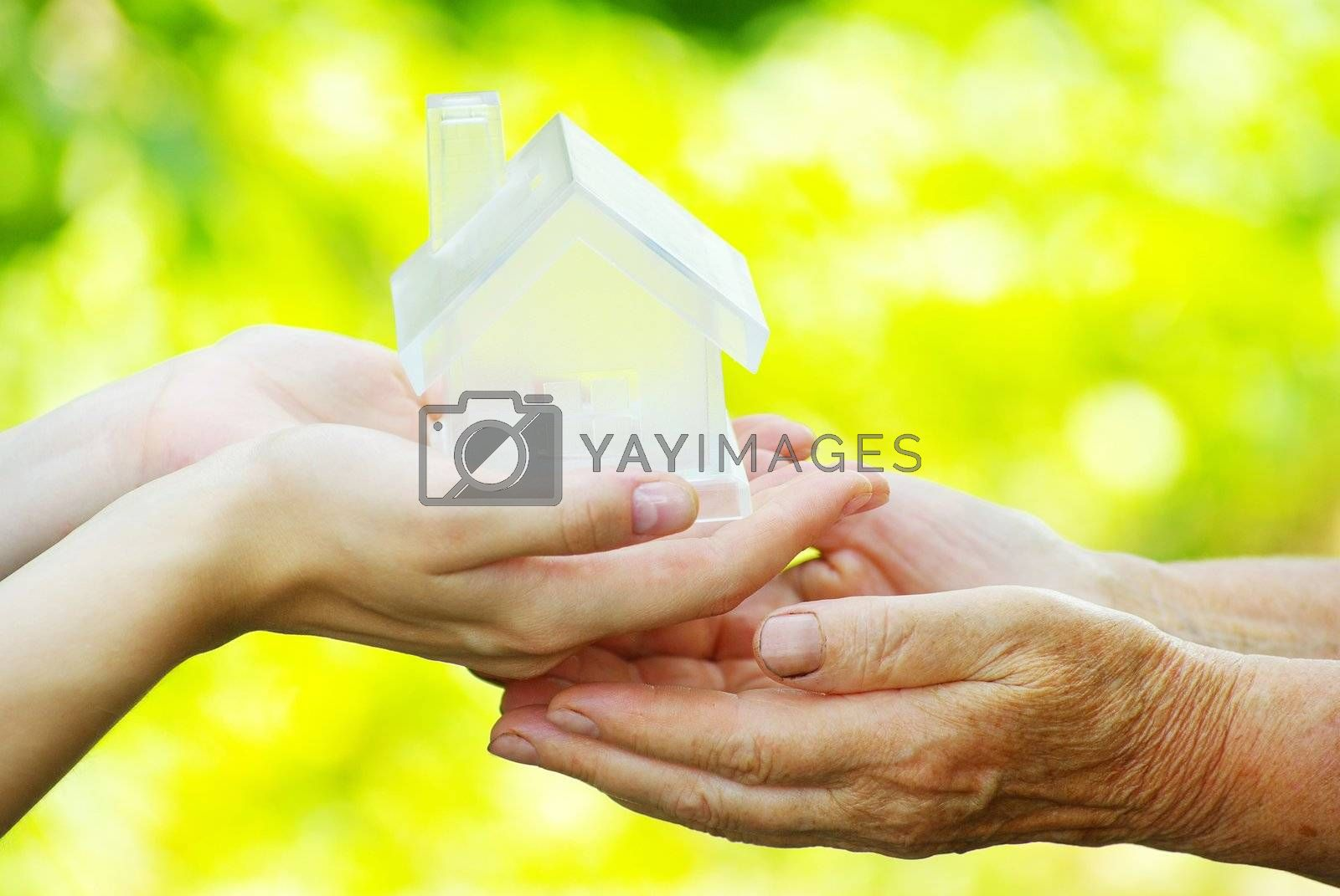 The house in human hand