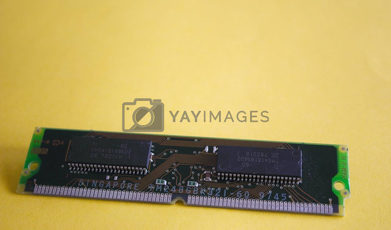 strip of ram memory for the computer