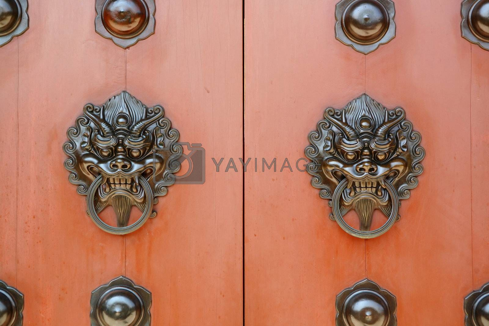 Royalty free image of chinese door by leungchopan