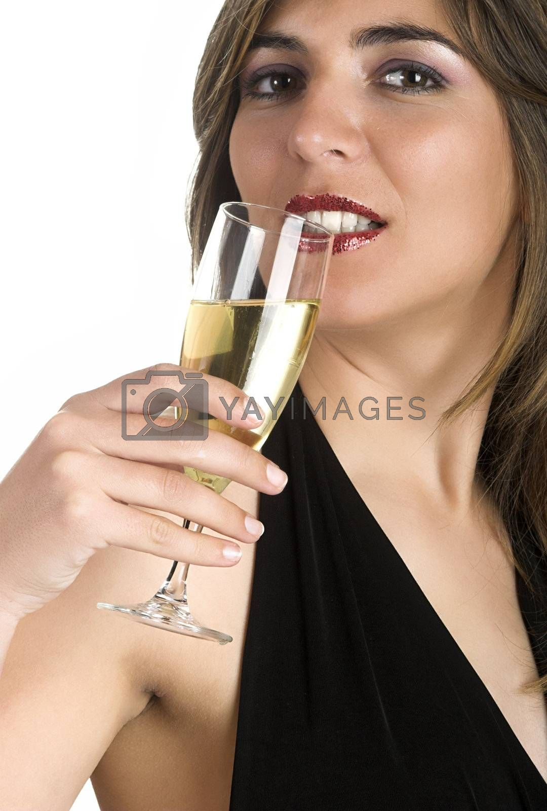 Happy woman celebrating the new year