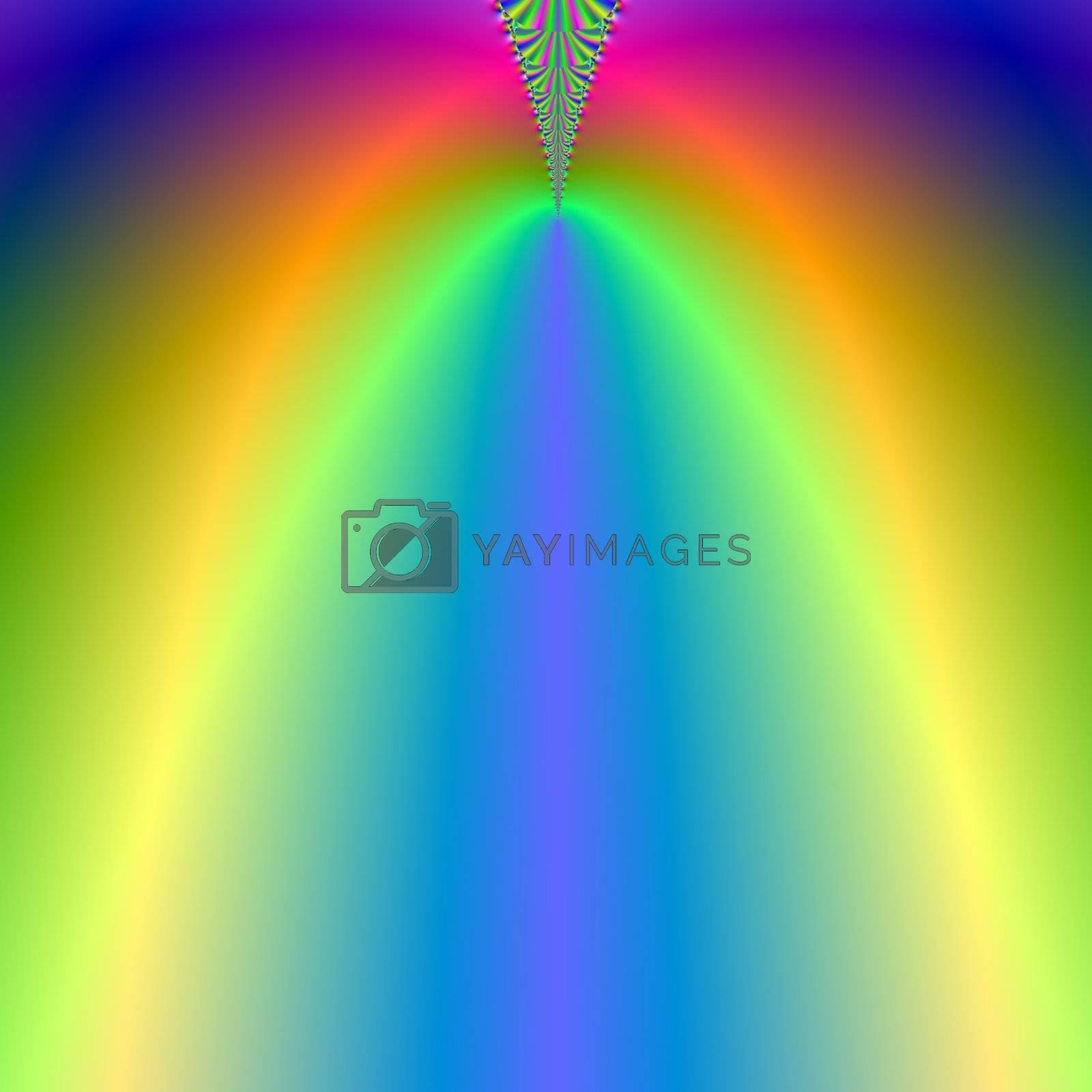 rainbow colored light beam background
