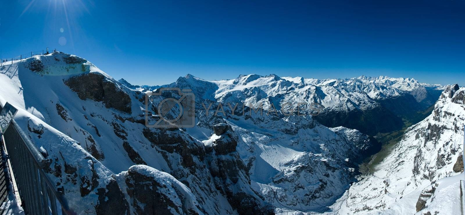 Royalty free image of Panorama from Titlis over swiss alps by iribo
