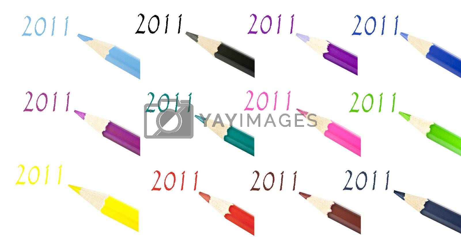 Royalty free image of Multi-color pencil composition by gitusik