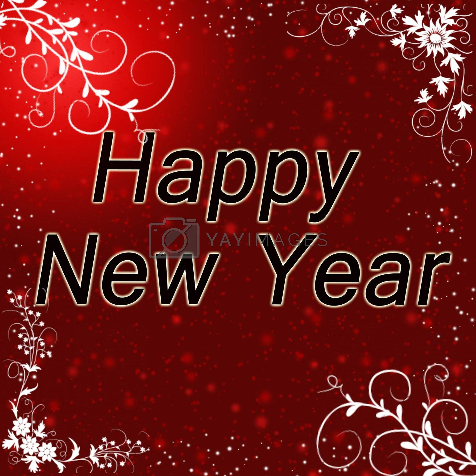Royalty free image of New year greeting card by gitusik