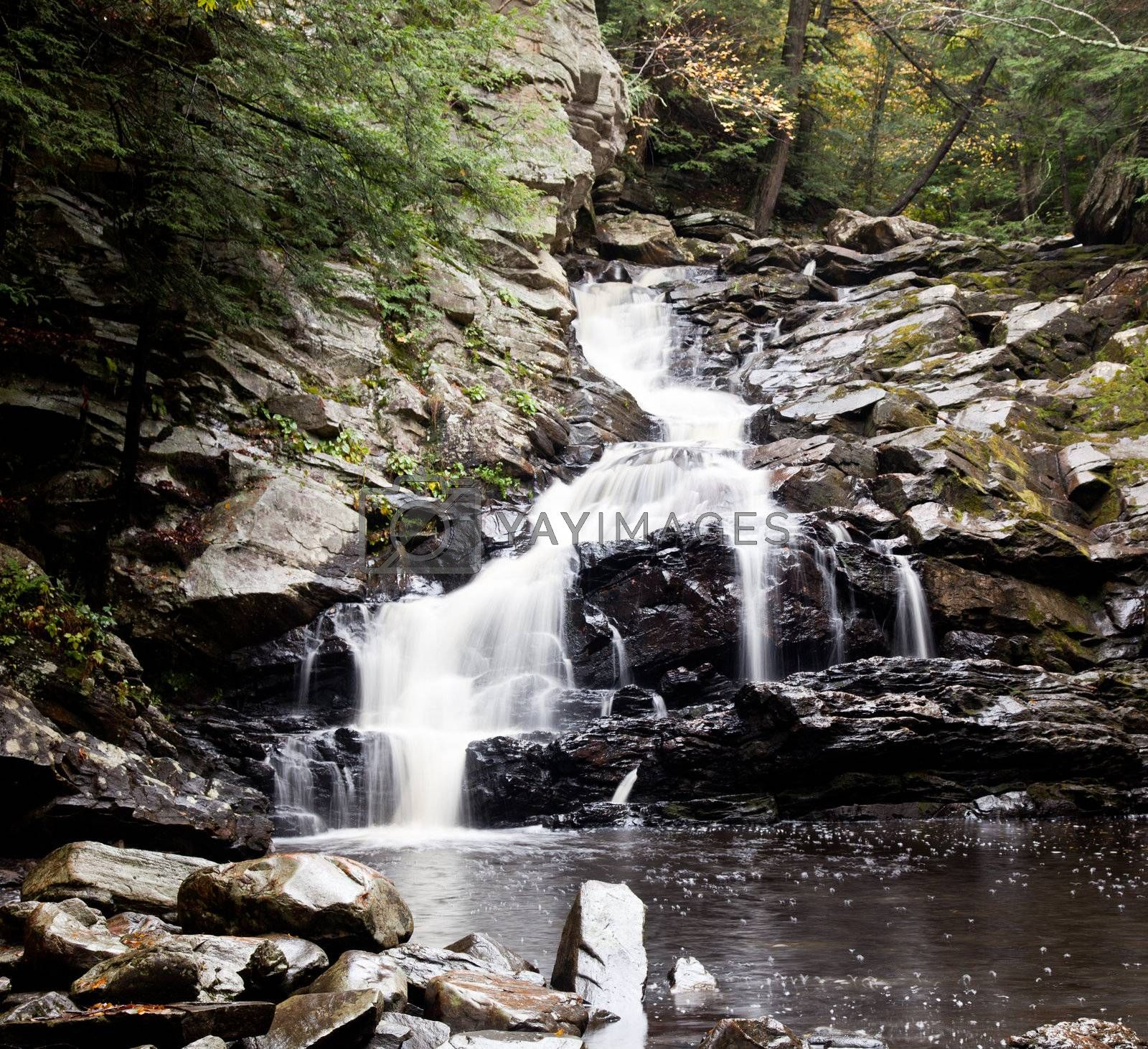Royalty free image of Waconah falls in Berkshires by steheap