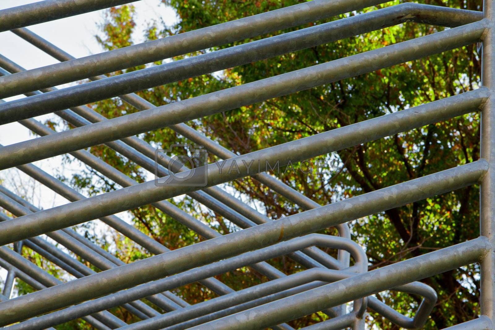 Royalty free image of Abstract steel railing by bobkeenan