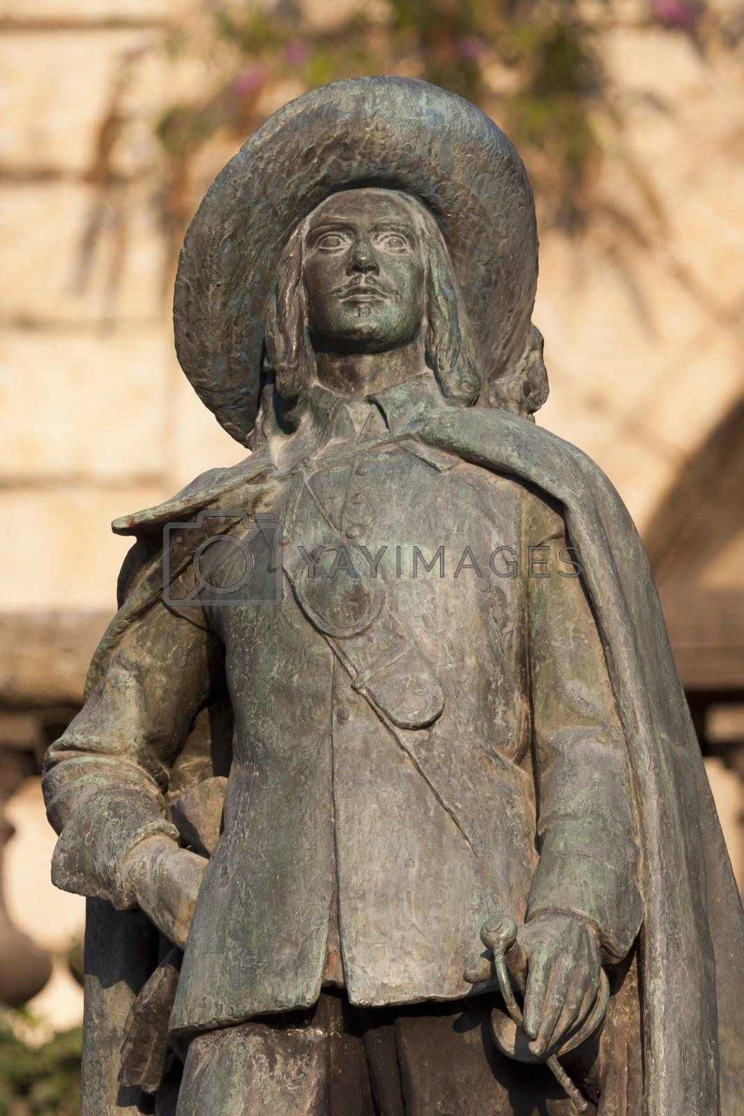 Royalty free image of statue of D'Artagnan by allg