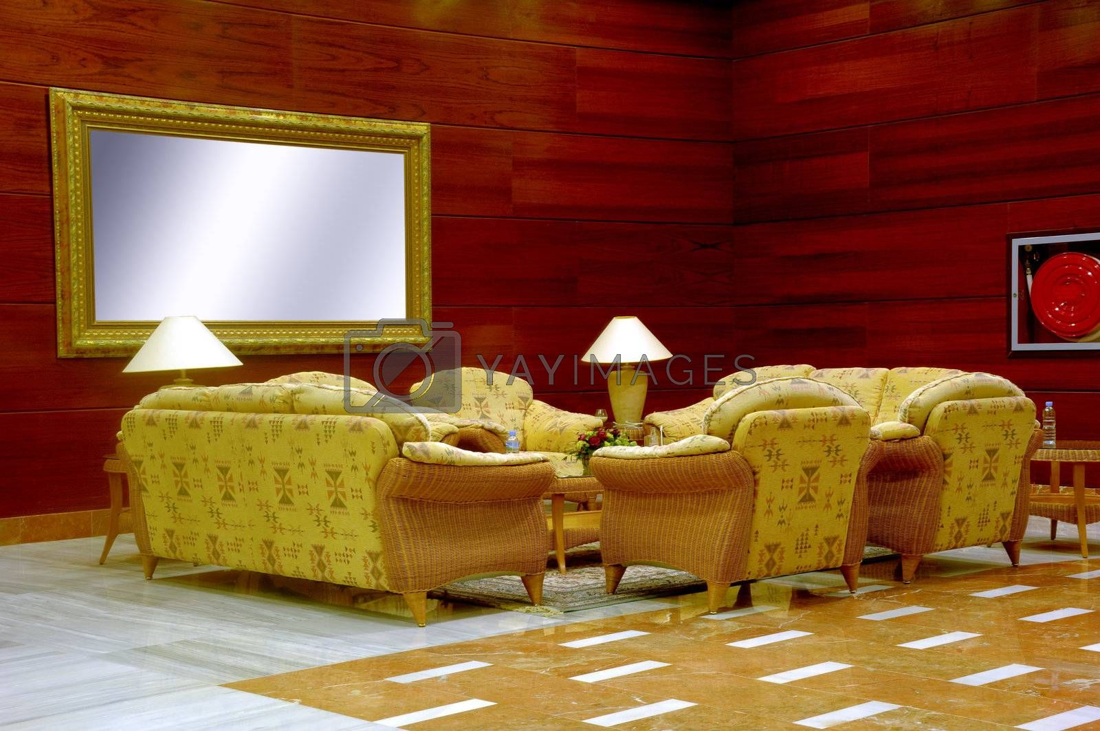 Royalty free image of Hotel lobby by cfoto
