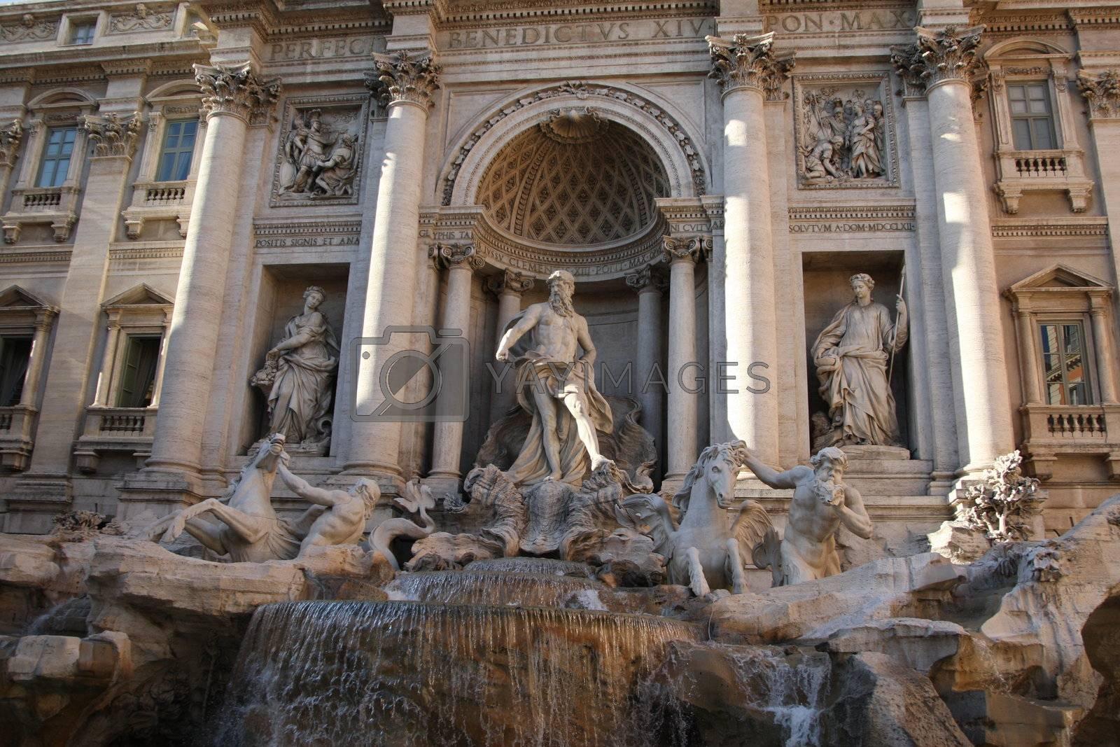 Royalty free image of Fontana di Trevi - Rome by MihaiDancaescu