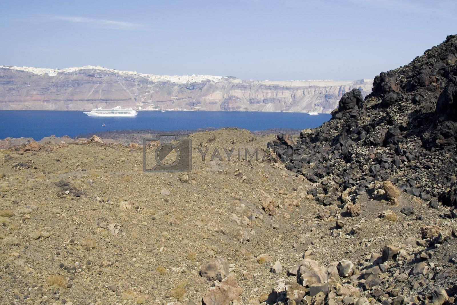 Santorini Island - summer holiday destination in Greece