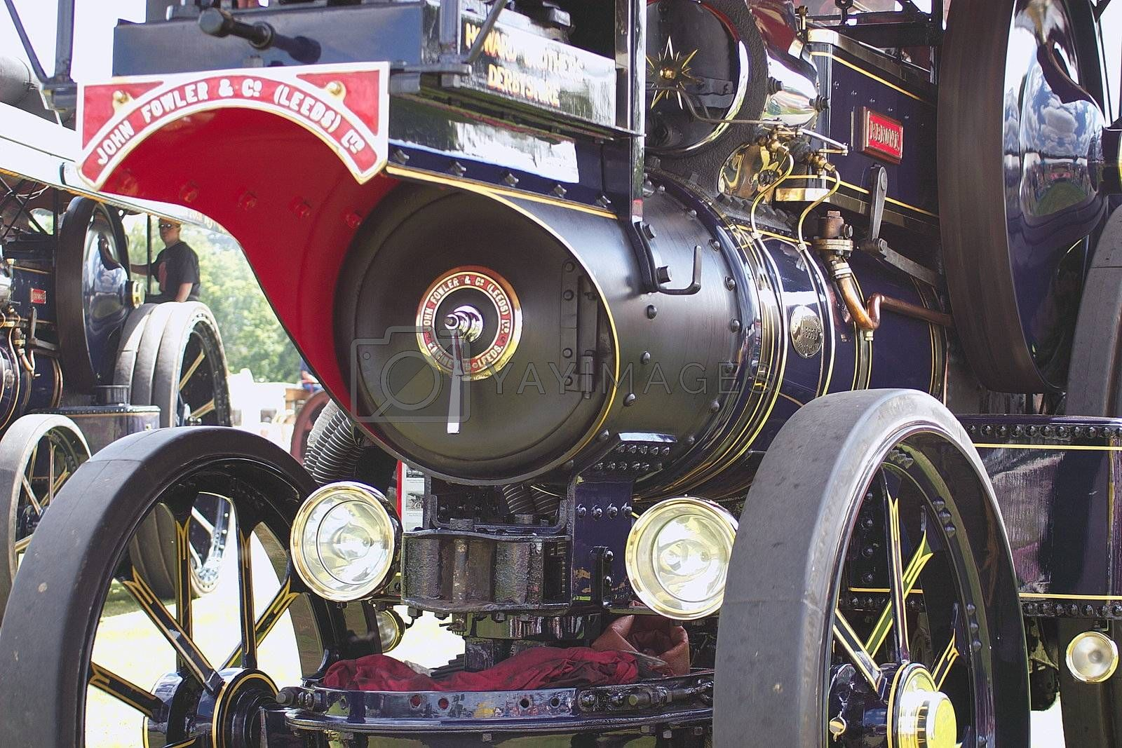 magnificent decorative vintage traction steam engine