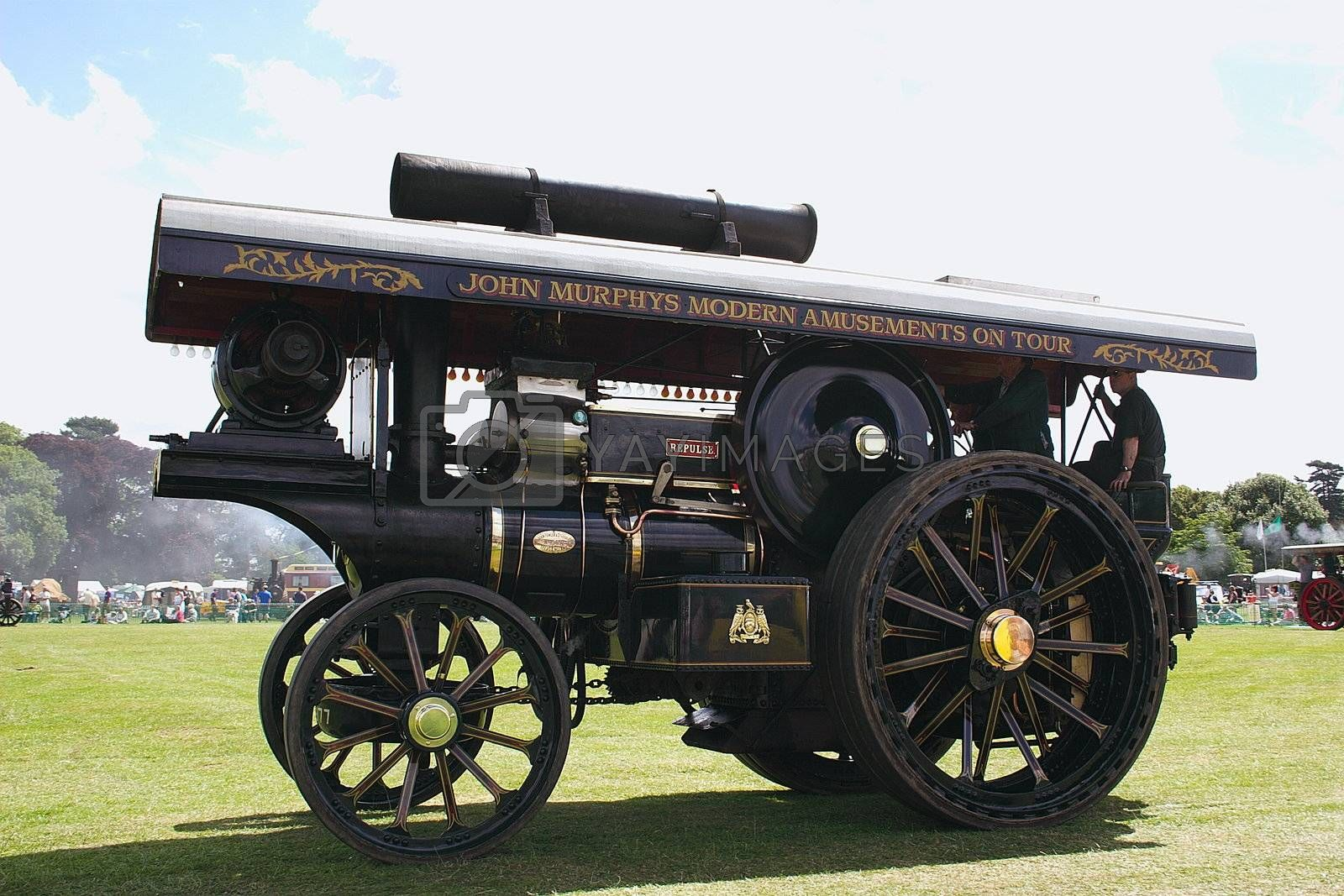 traction steam engine at a radio rally