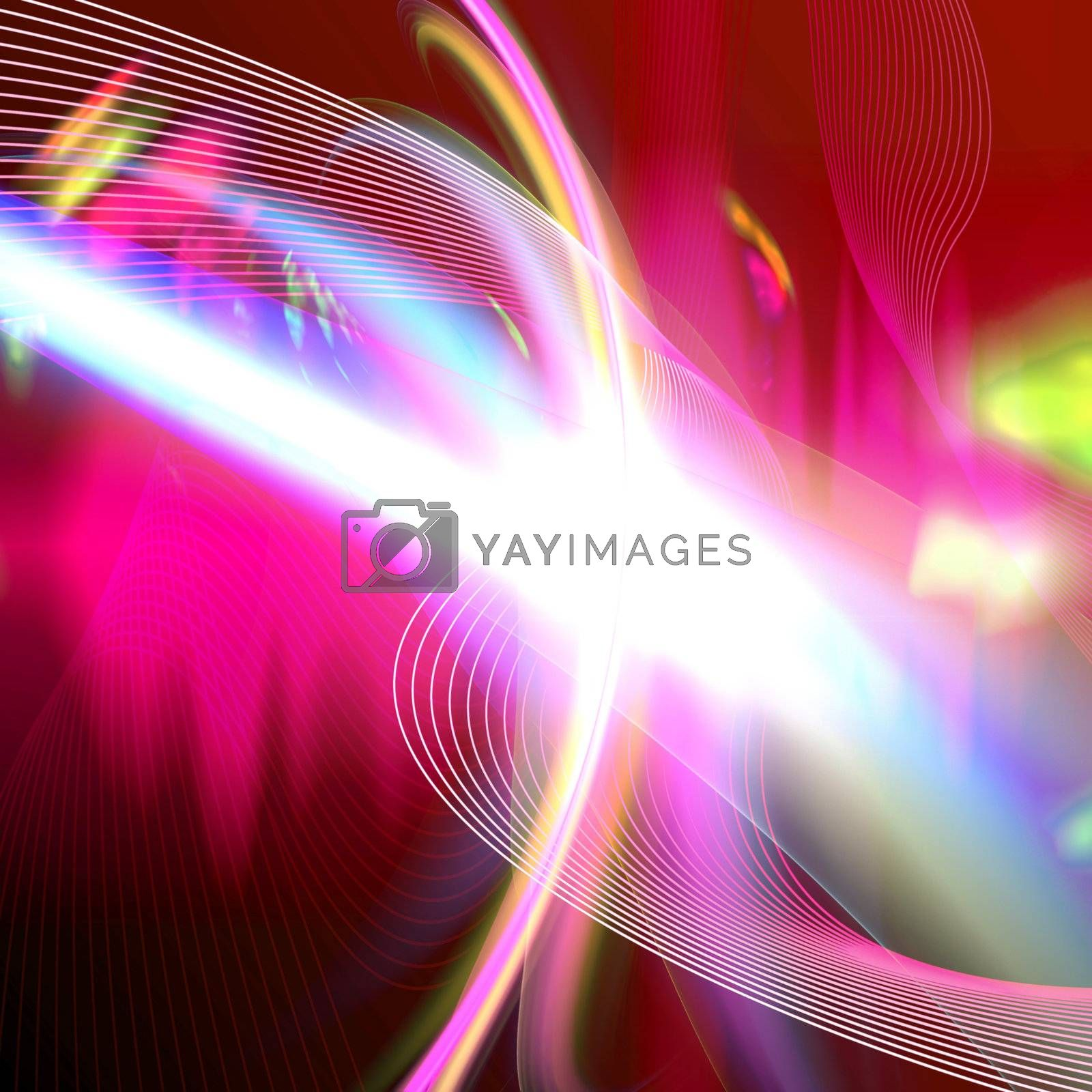 Abstract glowing fractal flare design that works great as a background or backdrop.