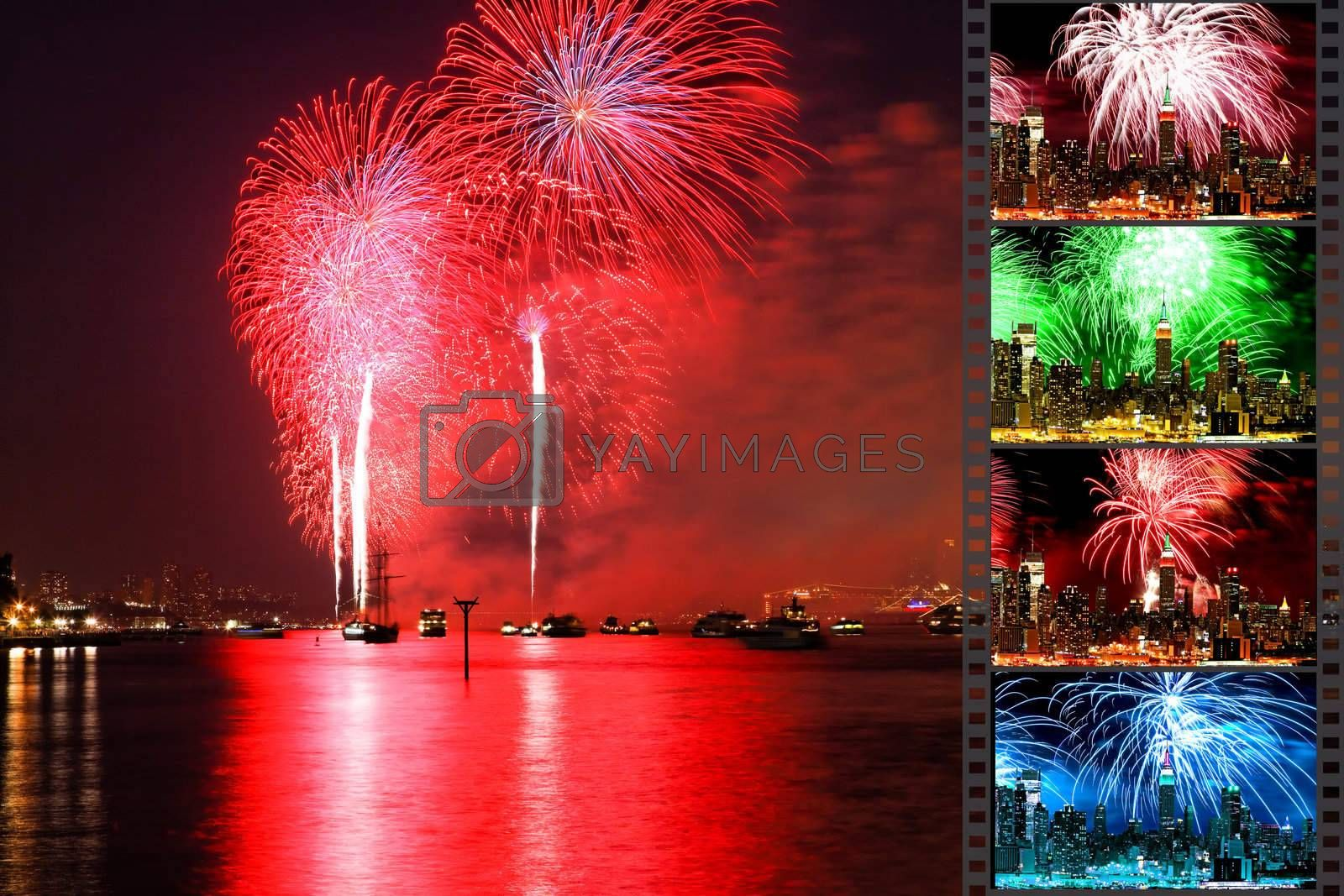 the Macy's 4th of July fireworks displays by gary718
