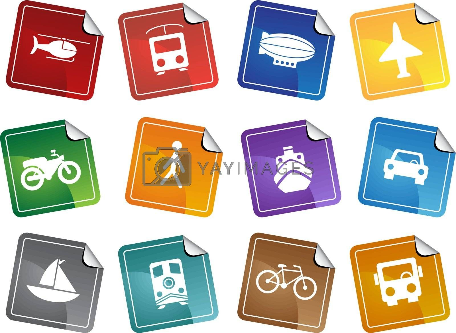 Transportation Buttons - Sticker by cteconsulting
