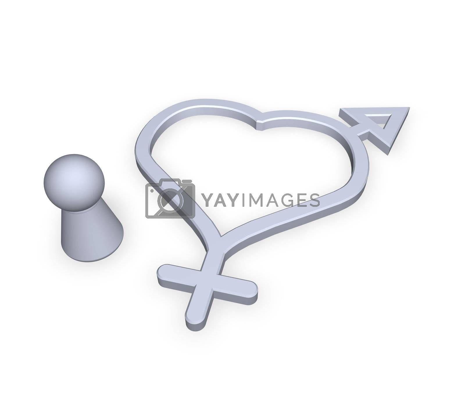 man - woman symbol and play figure