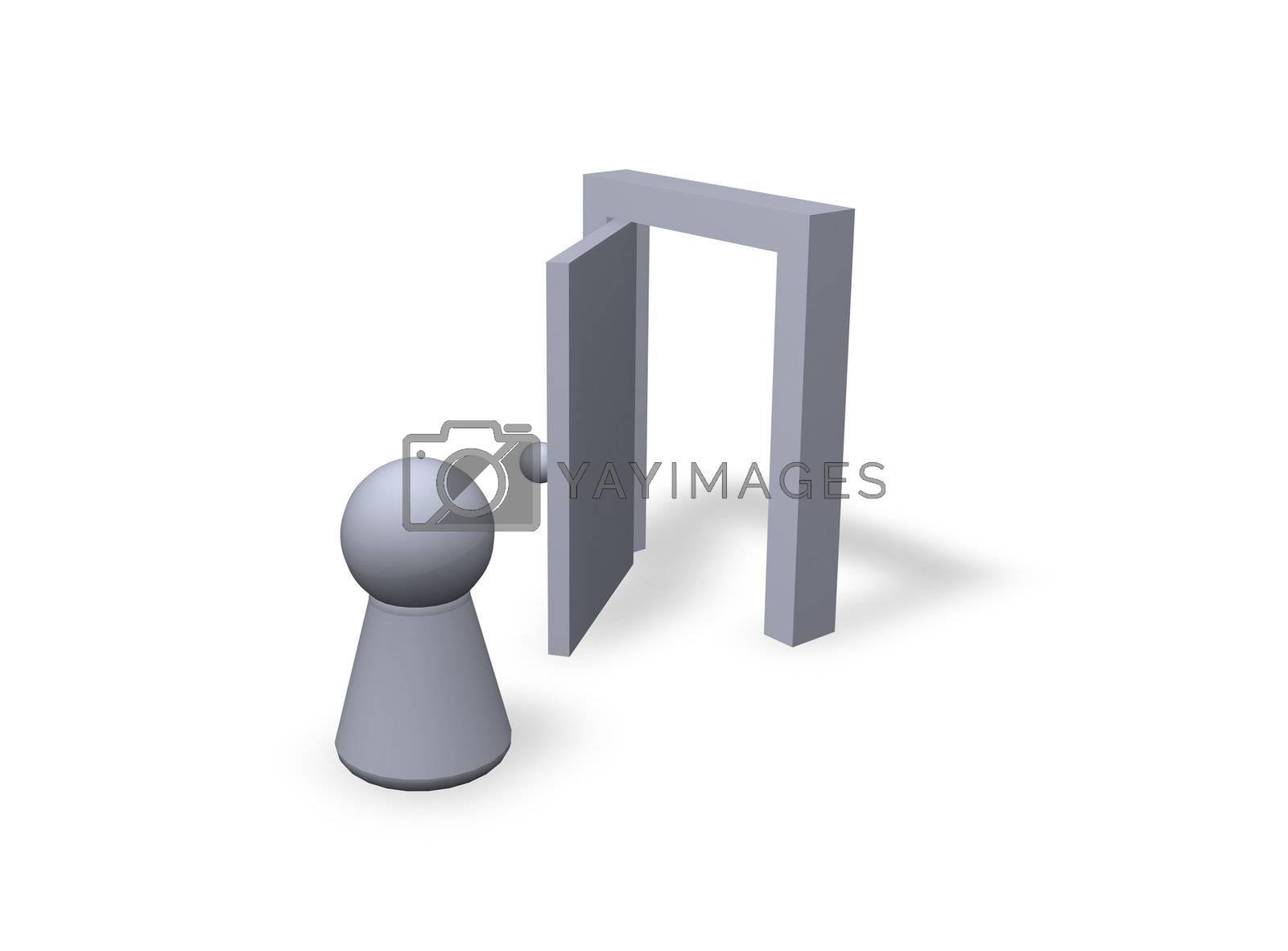 play figure and  open door