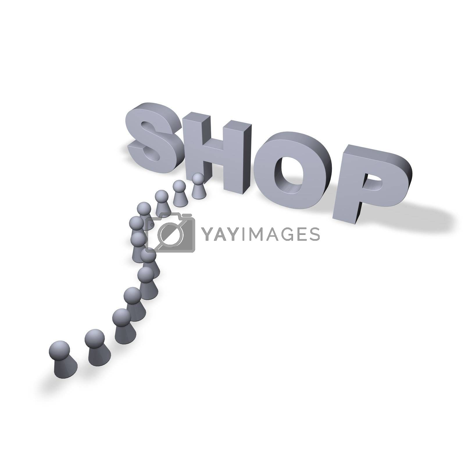 shop text in 3d and play figures