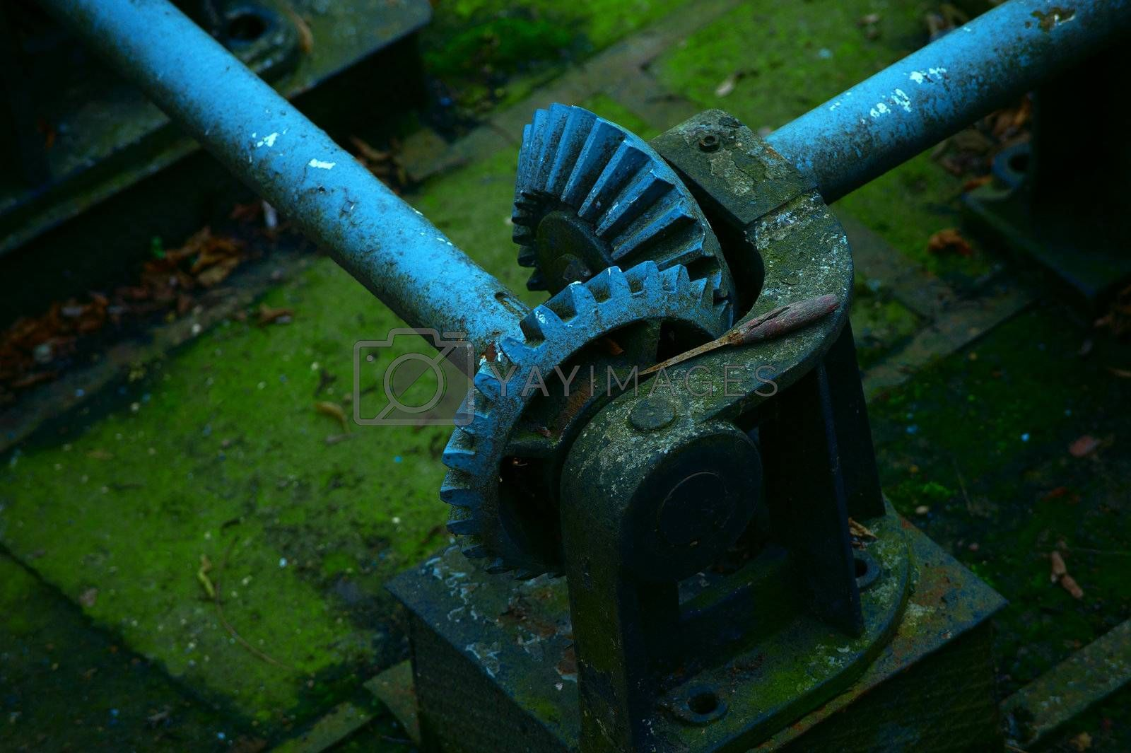 Gear. Part of the governance of the old gateway