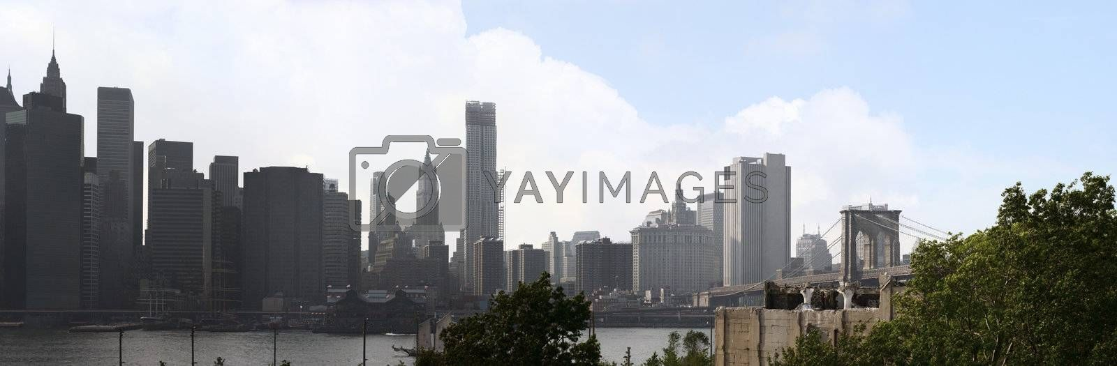 Manhattan NYC Skyline Panorama by graficallyminded