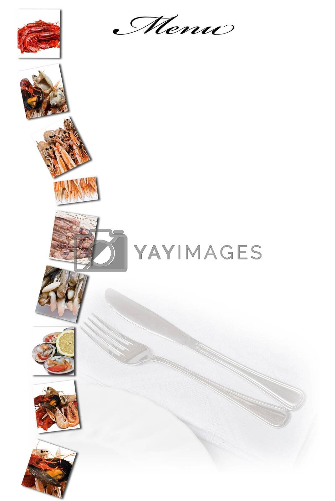 Menu for a restaurant. by angelsimon