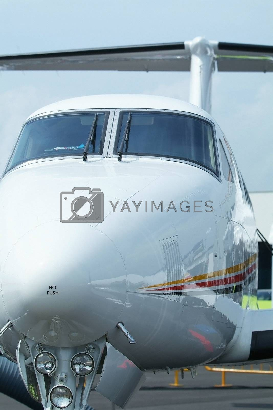 Front view of aircraft by epixx