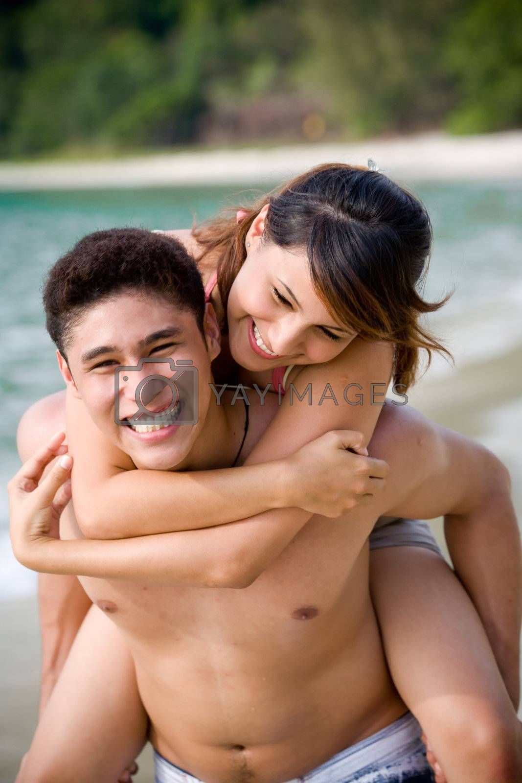Royalty free image of Happy couple by eyedear