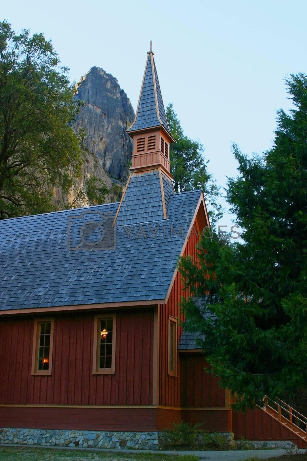 Yosemite Chapel by hlehnerer