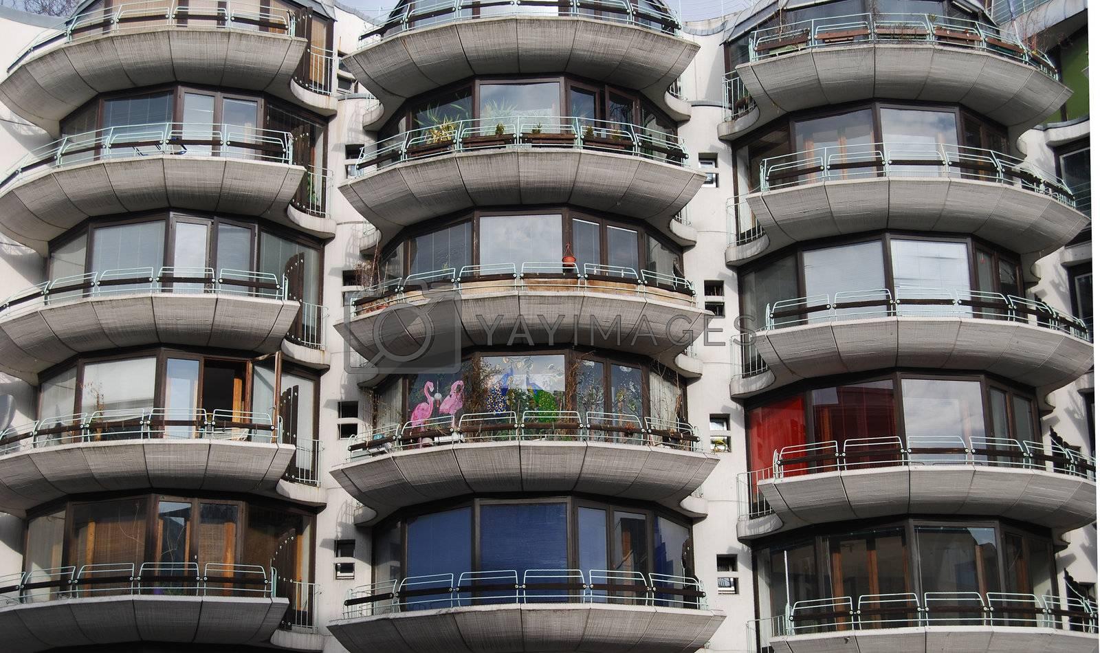 Balcony i Berlin housingcomplex