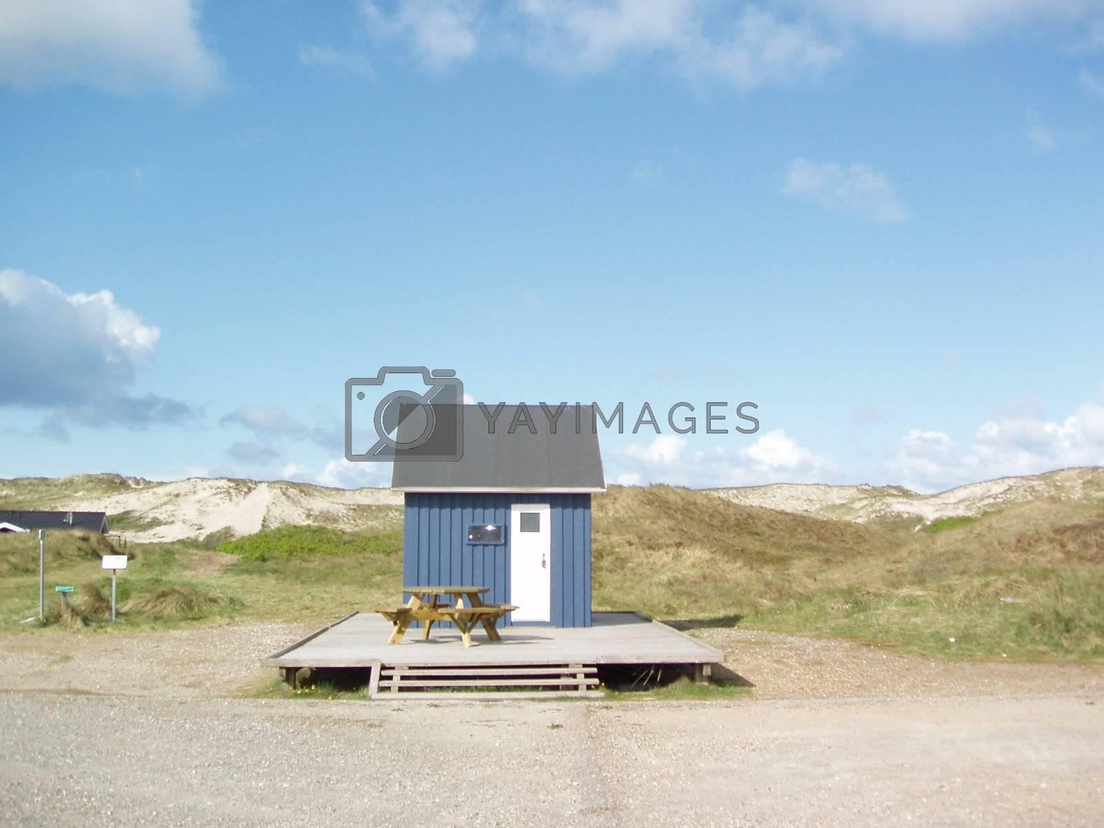 beachhouse by windmill