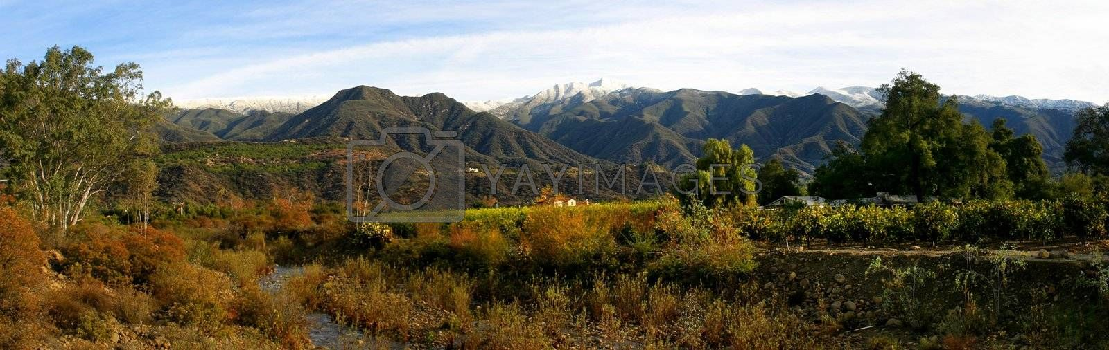 Ojai Valley With Snow (PI) by hlehnerer