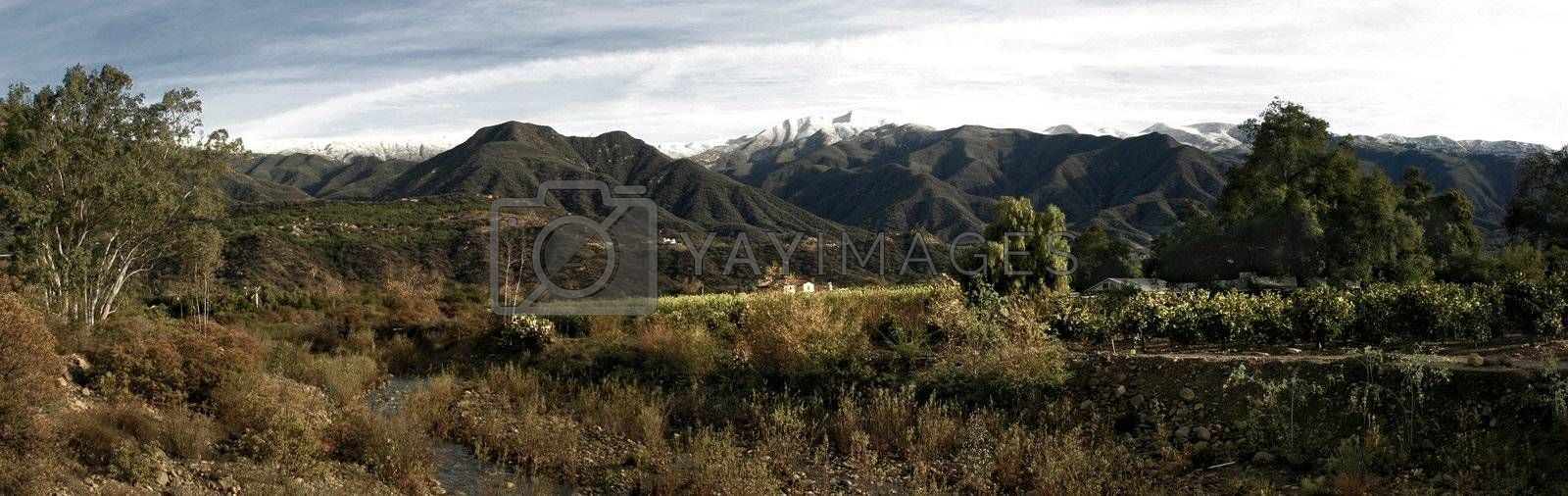 Ojai Valley With Snow (P7) by hlehnerer