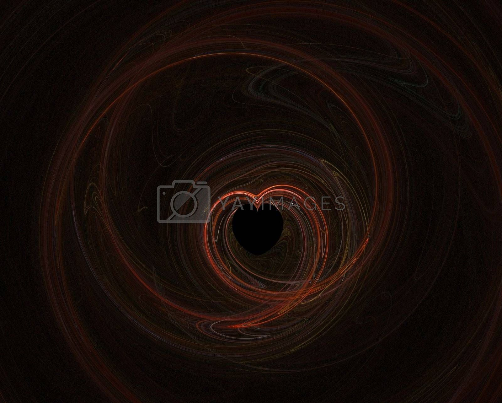 Fractal 13- red heart by hlehnerer