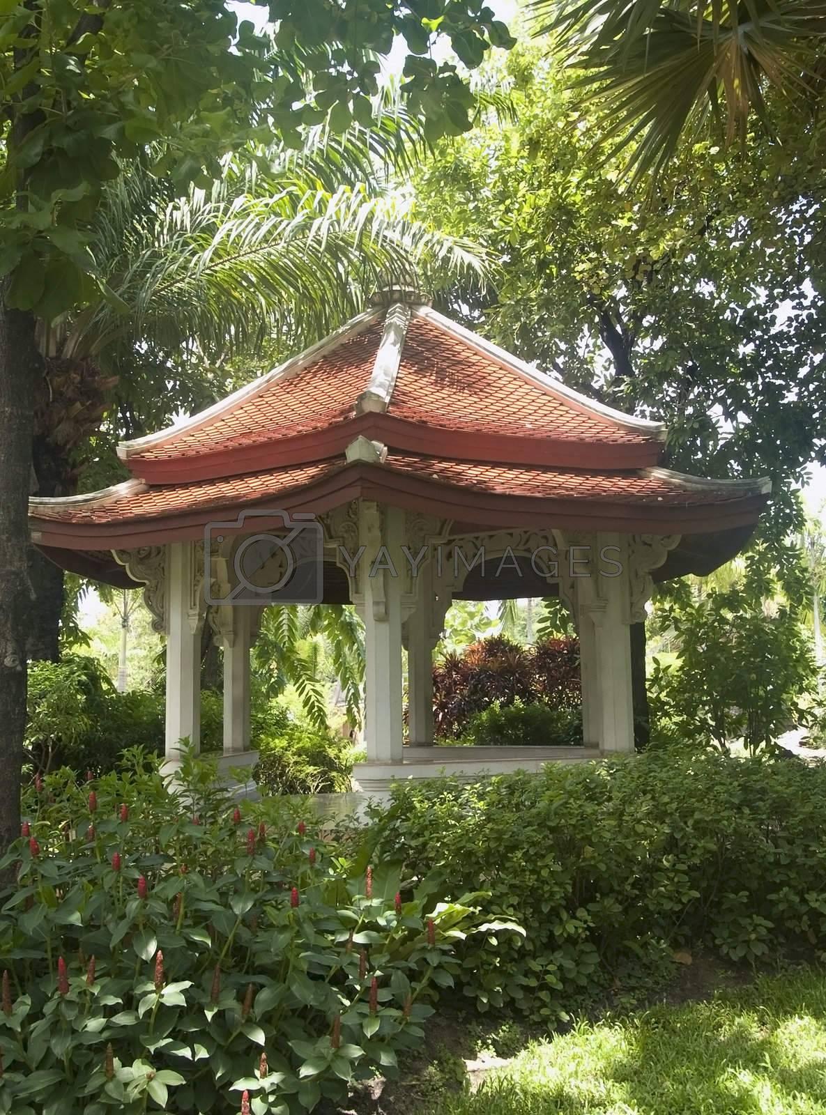 Pavilion in a tropical garden by epixx