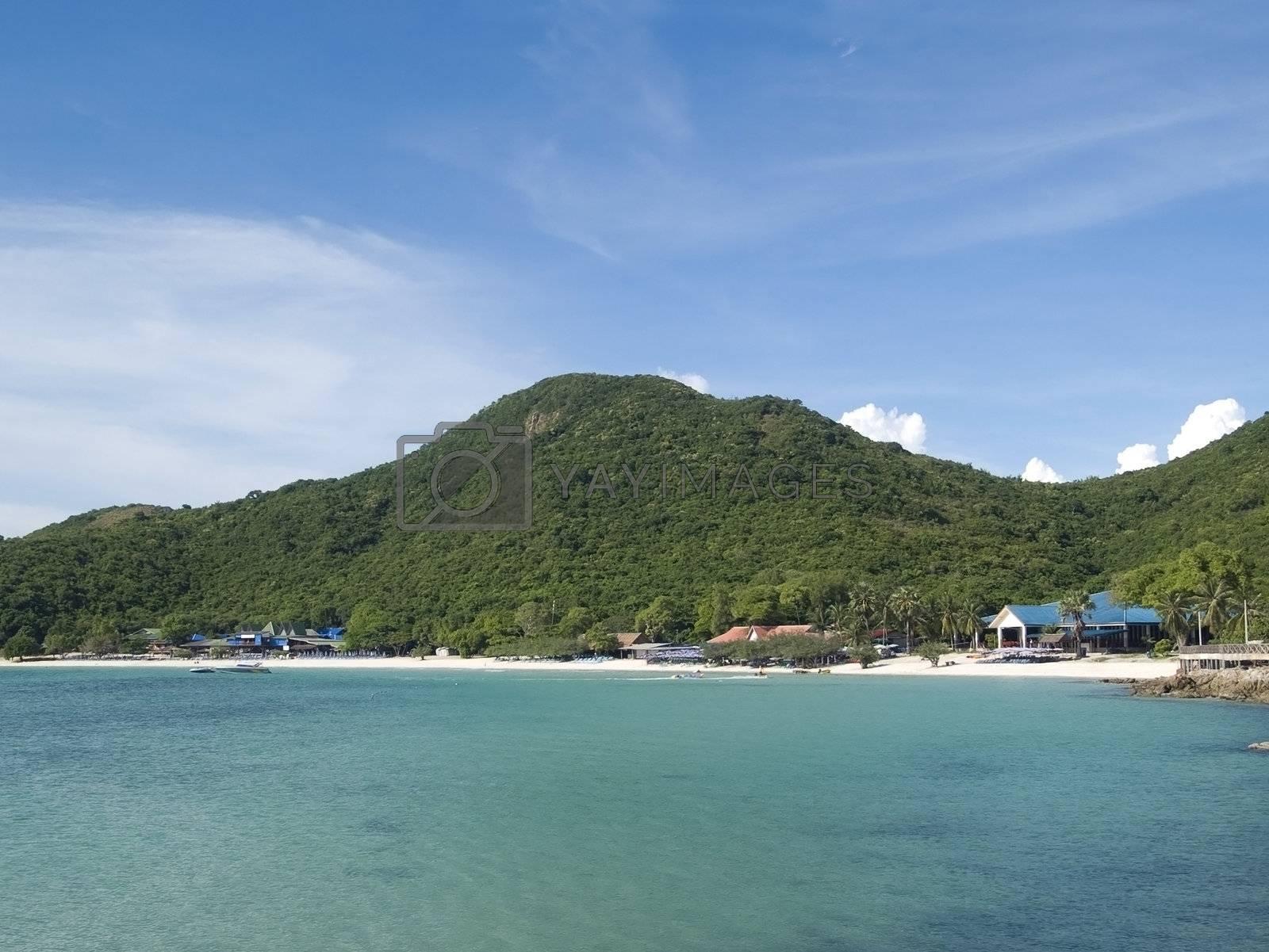 Beach on tropical island by epixx