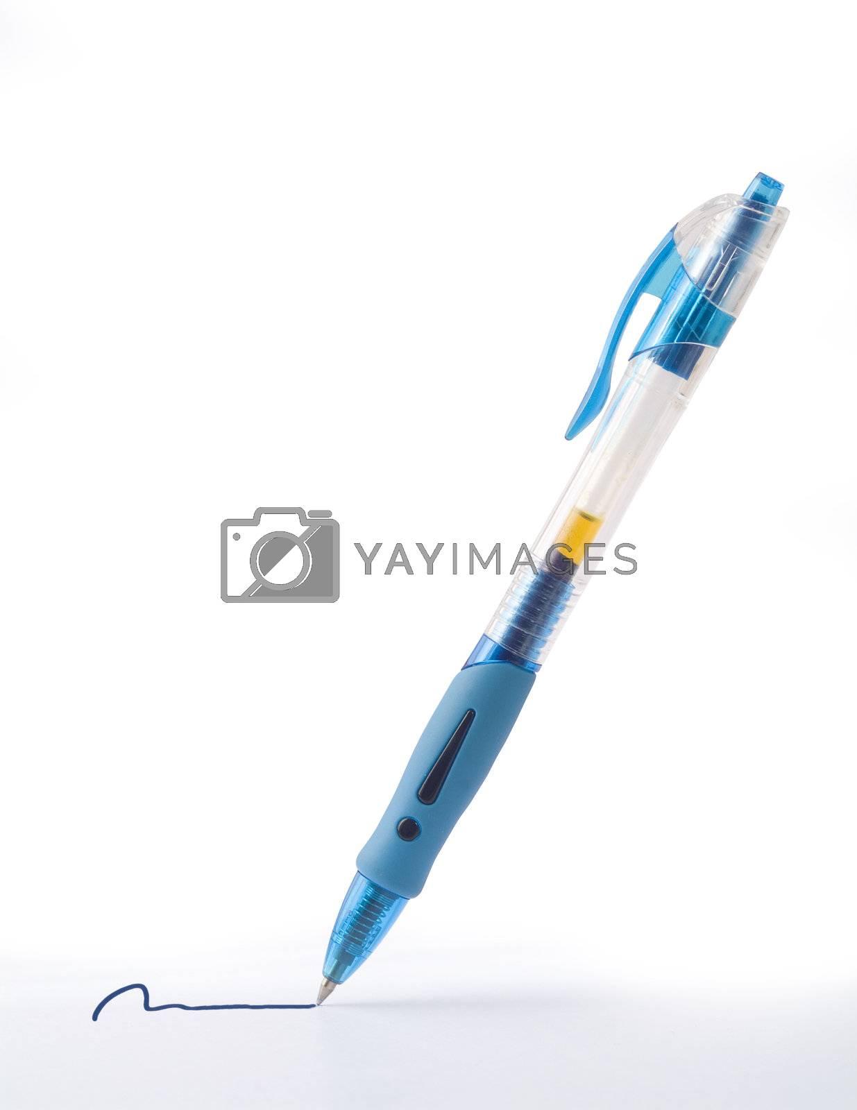 Pen on white by epixx