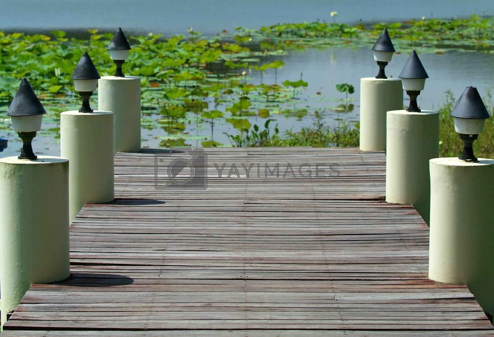 Wooden jetty by epixx