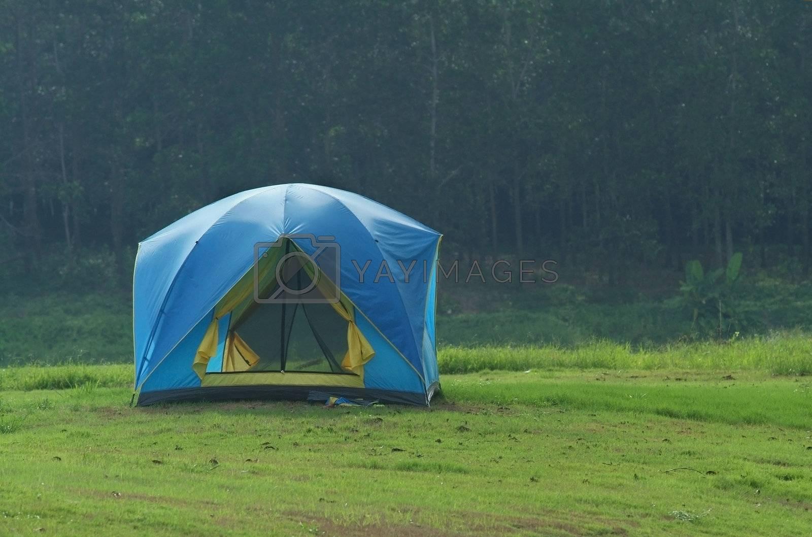 Blue tent by epixx