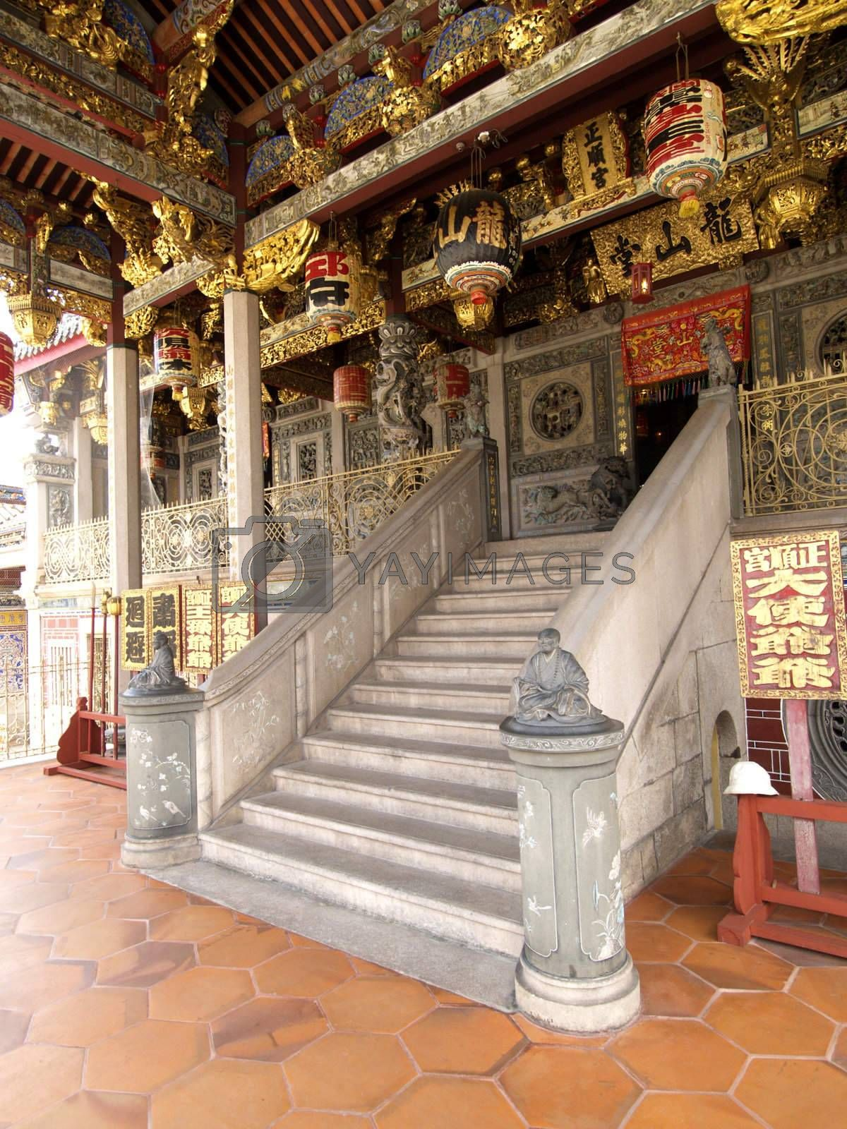 Entrance of Chinese temple in Malaysia by epixx
