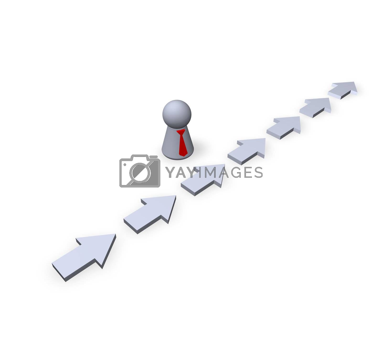 play figure businessman and pointers