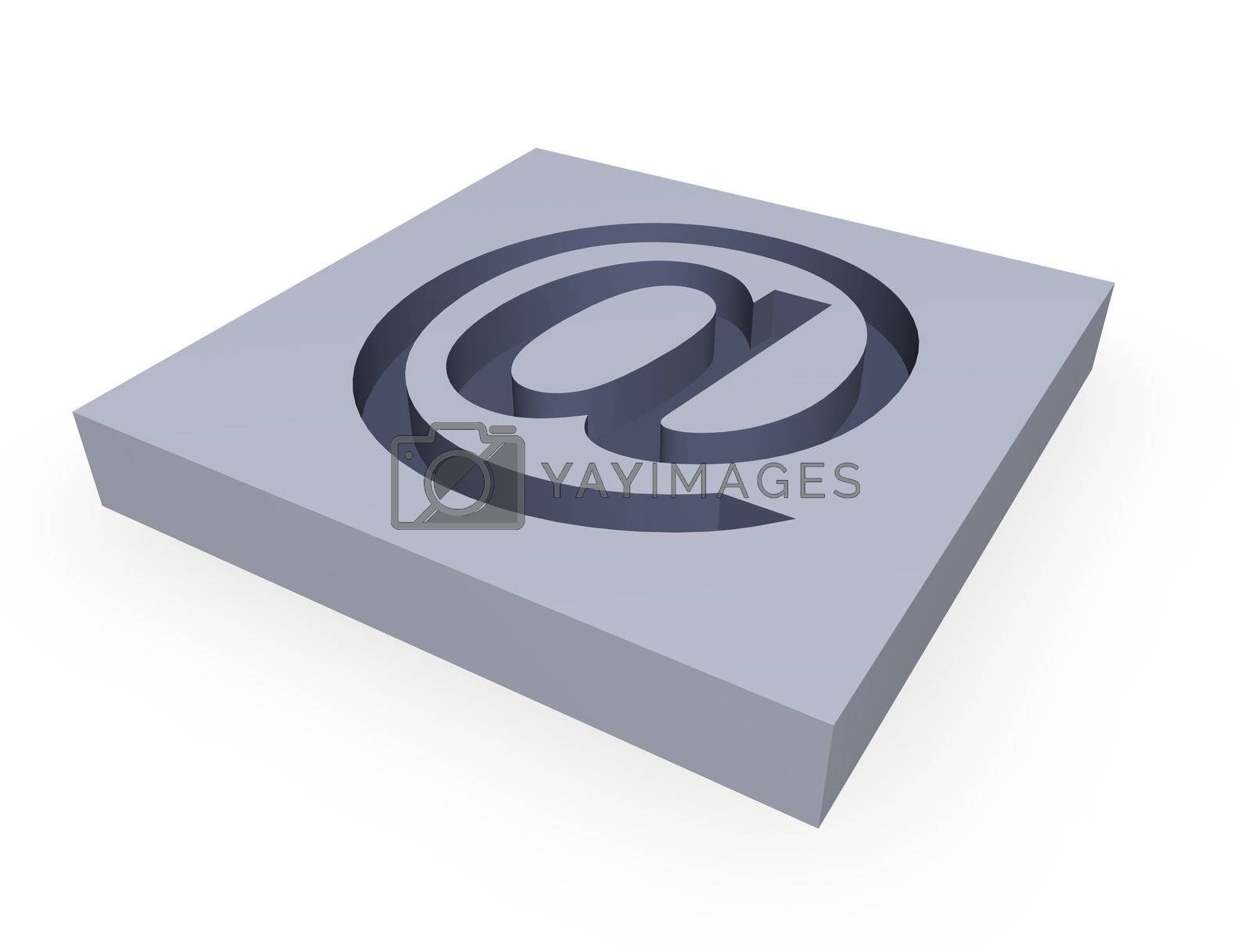 """grey """"at """" symbol on a white background"""
