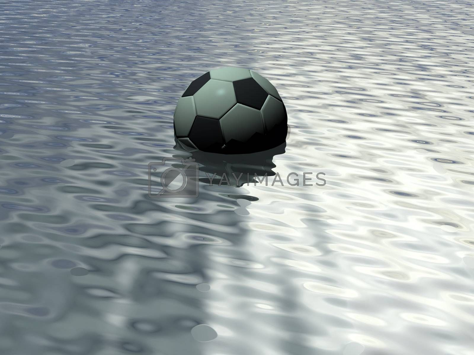 soccer ball in water