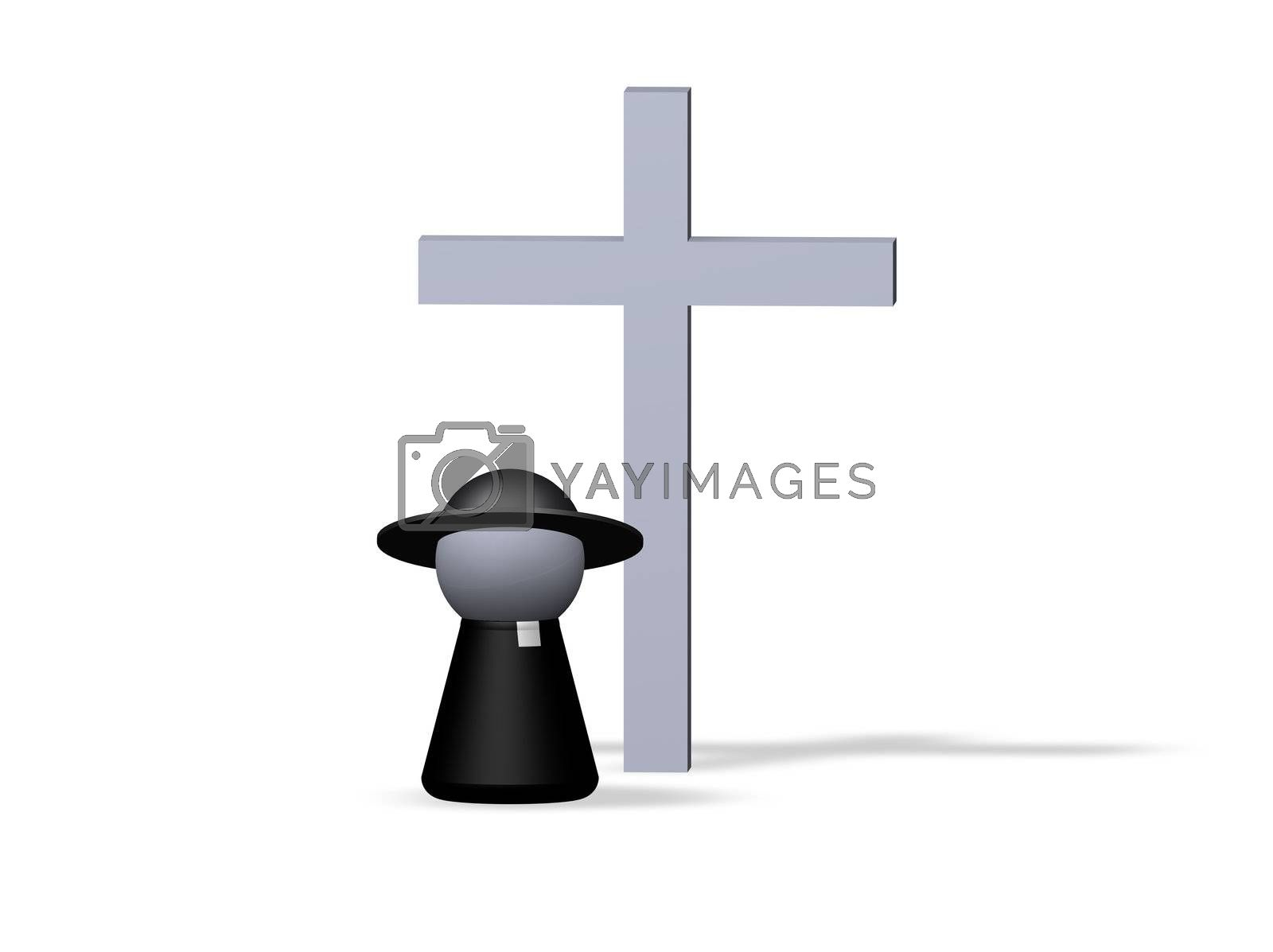 play figure priest and holy cross
