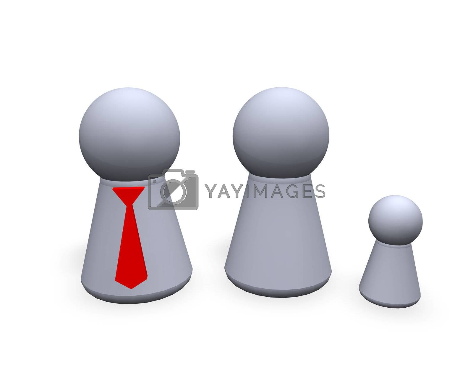 play figures family - father with red tie