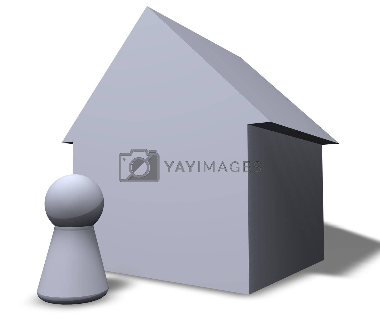 play figure and a house