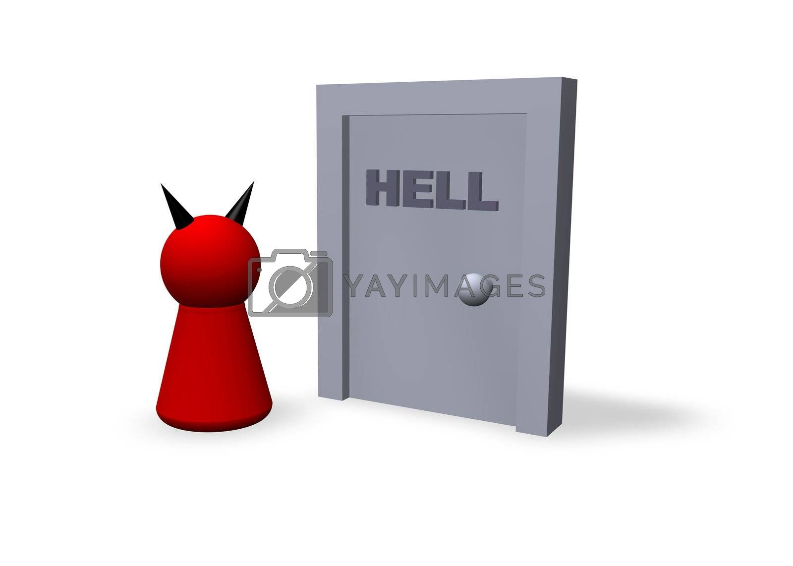 play figure satan and gate to hell