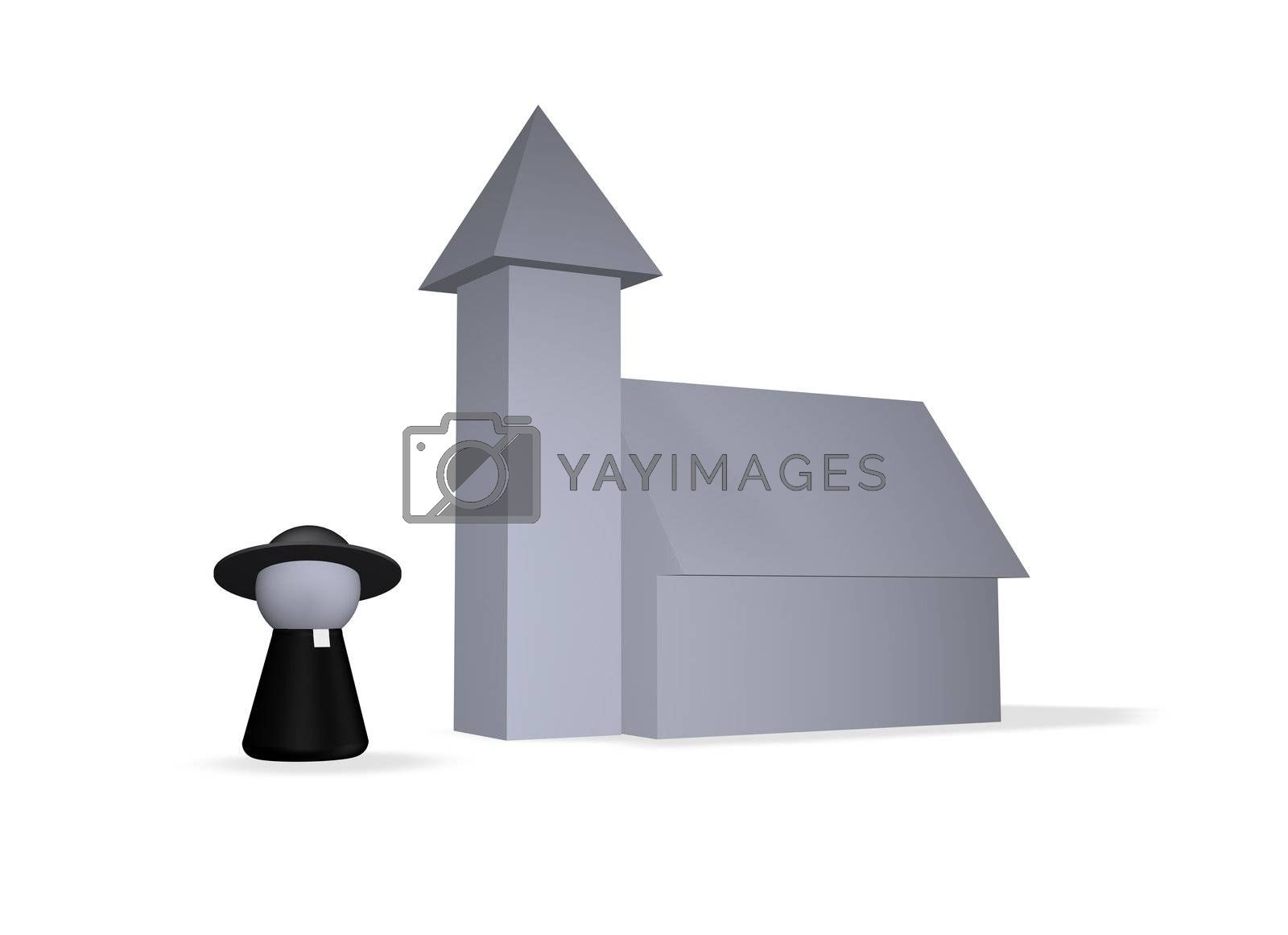 play figure holy man and church